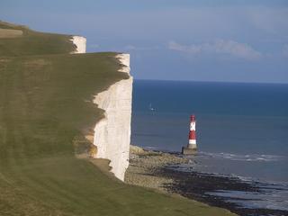 Beachy Head - Kreidefelsen an der englischen Südküste - Beachy Head, Eastbourne, Kreidefelsen, Südengland, East Sussex, Landspitze, Leuchtturm, Kliff, Kreide, Kalk, Kalkstein, Steilküste