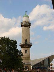 Leuchtturm in Warnemünde - Leuchtturm, Rostock, Warnemünde, Promenade, Signal, Leuchtfeuer, lotsen, Aussicht