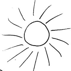 Sonne - Sonne, Strahlen, warm, Wärme, Anlaut S, Wörter mit Doppelkonsonanten