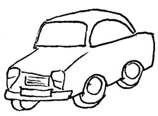 Auto - Auto, Straßenverkehr, fahren, Räder, Anlaut Au