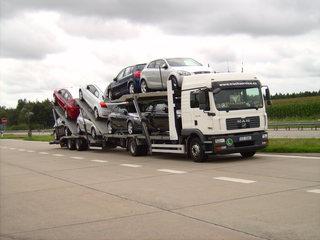Autotransporter - Autotransporter, KFZ, PKW, Transport, Nutzfahrzeug, Zugmaschine, Anhänger