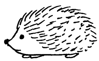 Igel - Igel, Illustration, Anlaut I