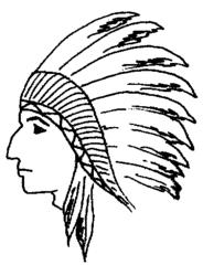 Indianer - Indianer, Federschmuck, Anlaut I, Kopf, Gesicht, Kostüm, Fasching, Karneval, Fastnacht