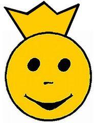 Smiley mit Krone - Smiley, Zeichen, Symbol, Bewertung