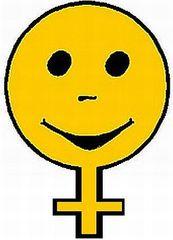 Smiley Mädchen2 - Smiley, Button, Symbol, Zeichen, Mädchen