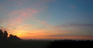 Sonnenaufgang - Sonnenaufgang, Wolken, orange, Himmel, Meditation, Schreibanlass