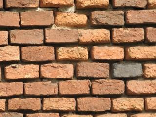 Ziegelmauer #2 - Hauswand, Ziegel, Ziegelmauer, versetzt, Ziegelverband, Fuge, Muster, Struktur
