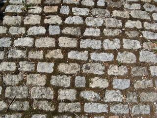 Steinboden - Granit, Steine, Struktur, Muster, Straße, verwittert