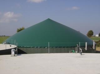 Biogasanlage #10 - Biolene, Biogaswerk, Membran, speichern, Gas
