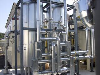 Biogasanlage #20 - Biogasanlage, Gasbehälter, Biogas, Außenanlage, Rohre, Gasrohre