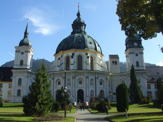Kloster Ettal - Ettal, Kloster, Klosterkirche, Kirche, Benediktiner, Barock, Architektur, Kuppel, Abtei