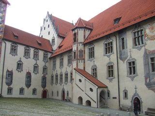 Schloss Füssen - Schloss, Füssen, Bayern, Allgäu, Architektur, Mittelalter, Burg, Gotik