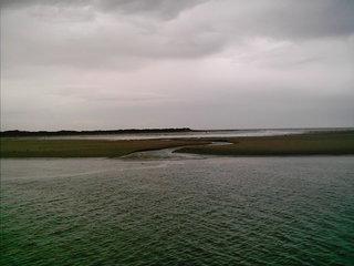 Landschaft Wattenmeer - Nordsee, Sandbank, Wasserrinne, Erdkunde
