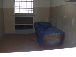 Gefängniszelle - Berlin, Hohenschönhausen, Gefängnis, Zelle, Stasi, DDR, Politik, Gefangene, Gitter, vergittert