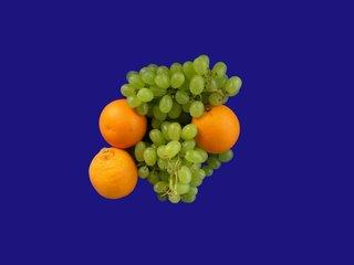 Orangen und Trauben - Orangen, Trauben, Obst