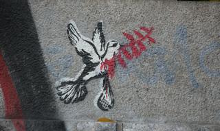 Friedenstaube - Friedenstaube, Friede, Taube, Graffiti, Gewalt, Gewaltfreiheit, Schreibanlass