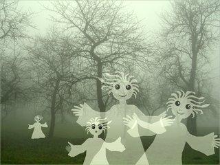 Nebelhexen - Nebel, Nebelhexen, Bäume im Nebel, Schreibanlass, Erzählanlass