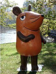 Hier kommt die Maus #1 - Maus, braun, Sendung, Kinderfernsehen, Fernsehen, TV, ZDF, Figur, braun