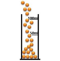 Standzylinder für das Kugelteilchenmodell - Standzylinder, Kugelteilchenmodell, Atom, Molekül, Modellvorstellung, Volumen