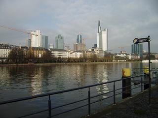 Hochhäuser in Frankfurt/M - Frankfurt/M, Frakfurt am Main, Hochhäuser, Bankenviertel, Finanzzentrum, Main