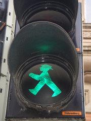 Ampelmännchen auf grün - Ampel, Ampelmännchen, Verkehr, Schild, grün