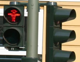 Ampelmännchen rot  - Ampel, Verkehr, Ampelmännchen, Schild, rot