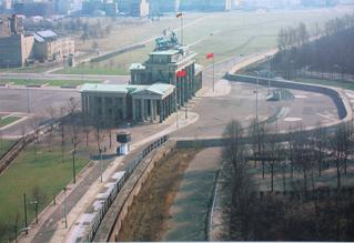 Mauerverlauf vor 1989 - Berlin, Brandenburger Tor, Mauerverlauf
