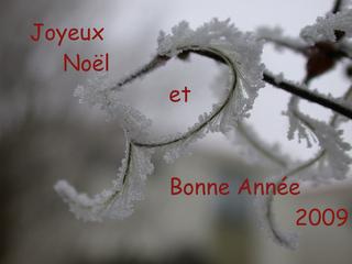 Glückwunschbild zum Jahreswechsel_französisch - Noël, joyeux, bonne, année, Noel