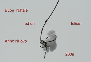 Glückwunschbild zum Jahreswechsel - italienisch - Natale, felice, anno, nuovo