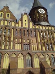 Vorderfassade des Domes in Königsberg - Dom, Kirche, Kaliningrad, Königsberg, Russland, Fassade, Renovierung
