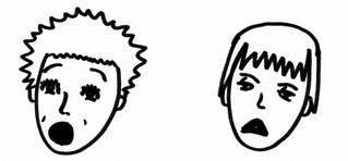 Gesichter drücken Gefühle aus, Teil 2 - Körpersprache, Mimik, Gesichter, Gefühle, traurig, entsetzt, erschrocken