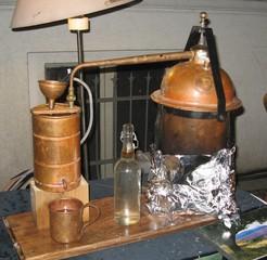 Destillationsapparat - Destillieren, Destillationsapparat, Trennverfahren, Trennmethode, Sieden, Verdampfen, Abkühlen, Kondensieren
