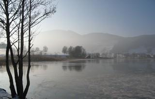 See im Winter - See, Winter, Eis, gefroren, Eisdecke, Kälte, Winterlandschaft