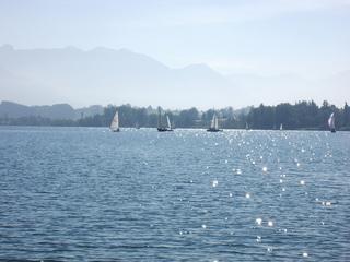Segelboote auf dem Riegsee - See, Segeln, Boote, Segelboote, Wasser, blau