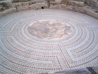 Bodenmosaik - Zypern - Ruinen von Paphos #1 - Zypern, Ausgrabung, Weltkulturerbe, Geschichte, Antike, Mosaik, Archäologie, Paphos, Ruinen, Labyrinth