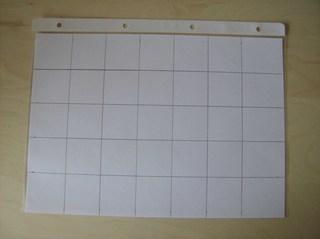 Tasche aus einer Klarsichtfolie #*1 - Klarsichtfolie, Klarsichthülle, Entwurf, Einteilung, Quadrate