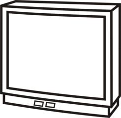 Fernseher - Fernseher, fernsehen, Freizeit, Film, Video, Anlaut F, Wörter mit h