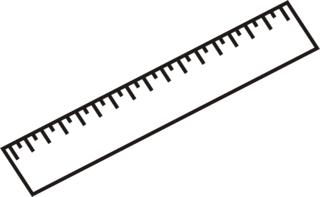 Lineal - Lineal, unterstreichen, zeichnen, Mathematik, Anlaut L