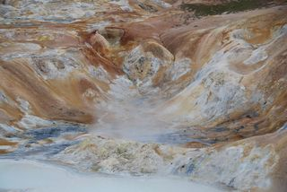 Geothermalgebiet - geothermal, Island, Solfataren, Fumarolen, Plattentektonik, endogene Kräfte