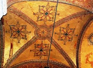 Hagia Sophia- Deckenmosaik - Türkei, Istanbul, Osmanisches Reich, byzantinische Baukunst, Islam, Religion, Weltreligion, Kirche, Mosaik, Geschichte, Geografie