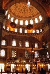 Neue Moschee - Innenraum - Gebäude, Moschee, Türkei, Istanbul, Osmanisches Reich, Yeni Camii, Neue Moschee, Religion, Weltreligion, Sakralbauten, Kuppel, Dekor