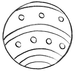 Ball - Ball, Grundwortschatz, rund, Kugel, Spielgerät, Spielzeug, Körper, Wurfobjekt, werfen, fangen, spielen, Anlaut B