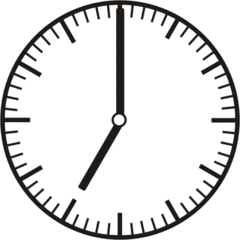 Uhrzeit 7.00   19.00 - Uhr, Uhrzeit, volle Stunde, ganze Stunde, Zeit, Zeitspanne, Zeitpunkt, Zeiger, Mechanik, Zeitskala, Zeitgeber, Analoguhr, Zifferblatt, Ziffernblatt, rechtsdrehend, Uhrzeigersinn, Minute, Kreis, Winkel, Grad, Mathematik, Größen, messen, time, clock, ermitteln, Zeitraum, Dauer, Frist, Termin, Zeitabschnitt