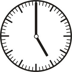 Uhrzeit 5.00   17.00 - Uhr, Uhrzeit, volle Stunde, ganze Stunde, Zeit, Zeitspanne, Zeitpunkt, Zeiger, Mechanik, Zeitskala, Zeitgeber, Analoguhr, Zifferblatt, Ziffernblatt, rechtsdrehend, Uhrzeigersinn, Minute, Kreis, Winkel, Grad, Mathematik, Größen, messen, time, clock, ermitteln, Zeitraum, Dauer, Frist, Termin, Zeitabschnitt