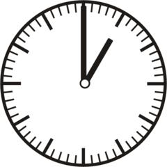 Uhrzeit 1.00   13.00 - Uhr, Uhrzeit, volle Stunde, ganze Stunde, Zeit, Zeitspanne, Zeitpunkt, Zeiger, Mechanik, Zeitskala, Zeitgeber, Analoguhr, Zifferblatt, Ziffernblatt, rechtsdrehend, Uhrzeigersinn, Minute, Kreis, Winkel, Grad, Mathematik, Größen, messen, time, clock, ermitteln, Zeitraum, Dauer, Frist, Termin, Zeitabschnitt