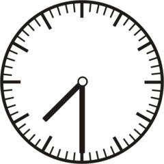 Uhrzeit 7.30   19.30 - Uhr, Uhrzeit, halb, Zeit, Zeitspanne, Zeitpunkt, Zeiger, Mechanik, Zeitskala, Zeitgeber, Analoguhr, Zifferblatt, Ziffernblatt, rechtsdrehend, Uhrzeigersinn, Minute, Stunde, Kreis, Winkel, Grad, Mathematik, Größen, messen, time, clock, ermitteln, Zeitraum, Dauer, Frist, Termin, Zeitabschnitt, half past