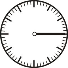 Uhrzeit - Blanko Uhr viertel  - Uhr, Uhrzeit, viertel nach, Zeit, Zeitspanne, Zeitpunkt, Zeiger, Mechanik, Zeitskala, Zeitgeber, Analoguhr, Zifferblatt, Ziffernblatt, rechtsdrehend, Uhrzeigersinn, Minute, Stunde, Kreis, Winkel, Grad, Mathematik, Größen, messen, time, clock, ermitteln, Zeitraum, Dauer, Frist, Termin, Zeitabschnitt, quarter
