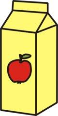 Apfelsaft - Apfelsaft, Saft, Apfel, Tetrapack, Getränk, trinken, Anlaut S, Anlaut A, Volumen, Körper, Oberfläche