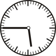 Uhrzeit 5.45   17.45 - Uhr, Uhrzeit, dreiviertel, viertel vor, Zeit, Zeitspanne, Zeitpunkt, Zeiger, Mechanik, Zeitskala, Zeitgeber, Analoguhr, Zifferblatt, Ziffernblatt, rechtsdrehend, Uhrzeigersinn, Minute, Stunde, Kreis, Winkel, Grad, Mathematik, Größen, messen, time, clock, ermitteln, Zeitraum, Dauer, Frist, Termin, Zeitabschnitt, quarter