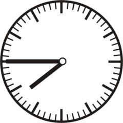 Uhrzeit 7.45     19.45 - Uhr, Uhrzeit, dreiviertel, viertel vor, Zeit, Zeitspanne, Zeitpunkt, Zeiger, Mechanik, Zeitskala, Zeitgeber, Analoguhr, Zifferblatt, Ziffernblatt, rechtsdrehend, Uhrzeigersinn, Minute, Stunde, Kreis, Winkel, Grad, Mathematik, Größen, messen, time, clock, ermitteln, Zeitraum, Dauer, Frist, Termin, Zeitabschnitt, quarter